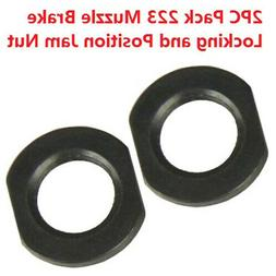 2PC All Steel 1/2-28 TPI Jam Nut For Muzzle and Brake Access