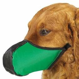 Pro-Guard Pets Softie Muzzle for Dogs, Large Green