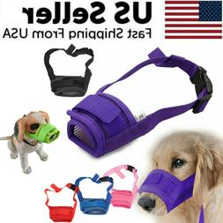 Adjustable Pet Dog Mask Small & Large Mouth Muzzle Grooming