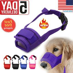 Adjustable Pet Dog Mask Small&Large Mouth Muzzle Grooming An