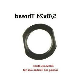 All Steel 5/8-24 TPI Jam Nut For Muzzle Brake and Brake Acce