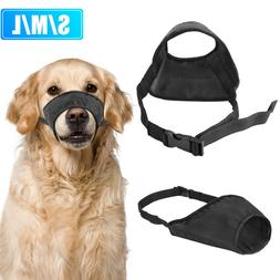 Dog Muzzle Adjustable Mouth Grooming Anti Stop Bark Bite Che