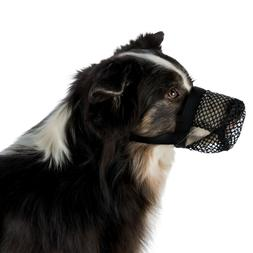 dog muzzle poisoned bait protection polyester allows