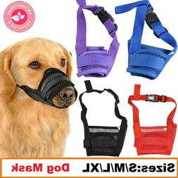 Dog Safety Muzzle Muzzel Adjustable Biting Barking Chewing S