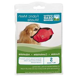 Fabric Mesh Dog Muzzle in Red - Size: Small