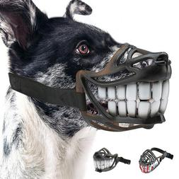 Funny Dog Muzzle Mask Adjustable Pet Dogs Mouth Cover Breath