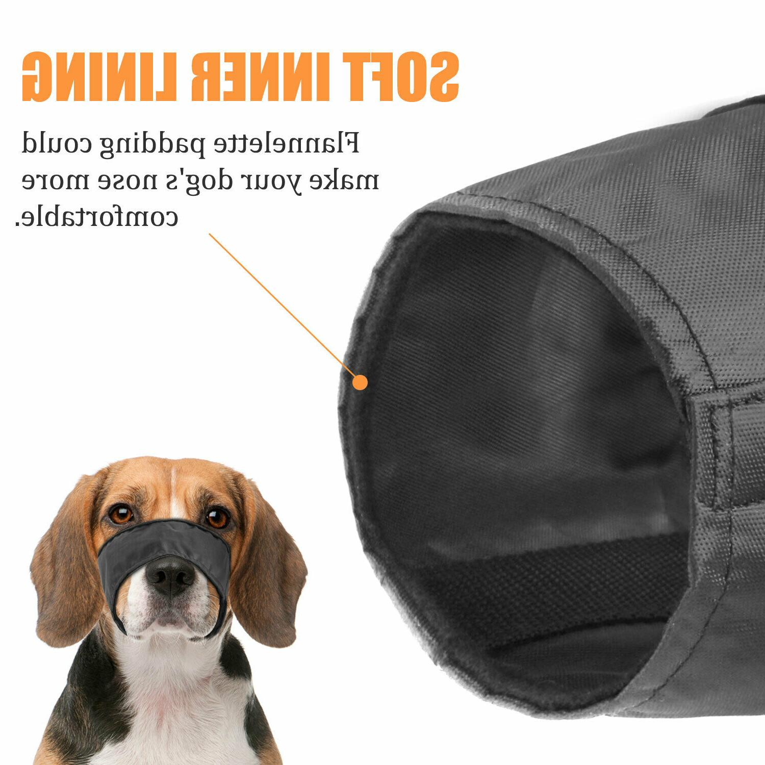 Black Dog Muzzle Fabric Comfortable Anti-Stop