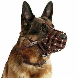 Leather Dog Muzzle German Shepherd Basket Mouth Cover for Me
