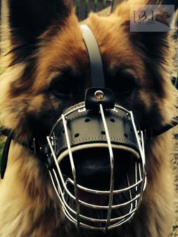 New Strong Metal Wire Basket Dog Muzzle for German Shepherd