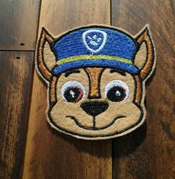 Patch Iron-On Paw Patrol Dogs Chase Muzzle Embroidered Appli