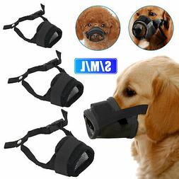 Pet Dogs Adjustable Mask Bark Bite Mesh Mouth Muzzle Groomin