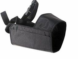 Quick Fit Dog Grooming Muzzle, with Adjustable Straps, black