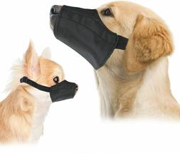 Quick Fit Dog Muzzle with Adjustable Straps Black nylon Size