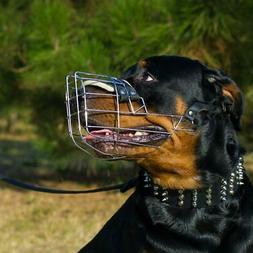 Rottweiler Muzzle that Allows Drinking Dog Muzzle Basket Med