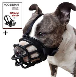 Soft Basket Muzzle for Medium Large Dogs Prevent Biting Chew