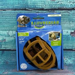 Baskerville Ultra Muzzle for Dog - Size # 3- TAN Permits Pan